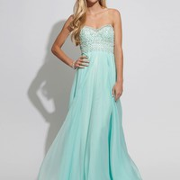 Chiffon Sweetheart Empire Baby Blue Prom Dress with Lace Style RAJN234,2014 Prom Dresses