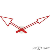 Nextime Arrow Clock Red - large contemporary wall clocks