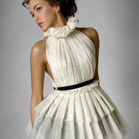 Silk Organza Pleated French Maiden Dress by reddoll on Etsy