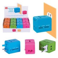Universal Travel Adapter - Pink