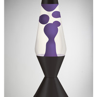 Lava Lamp with Purple Lava, Clear Liquid, and Black Base 52 oz.