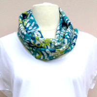 Tropical Leaves Infinity Scarf
