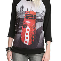 Doctor Who Red Dalek Raglan Girls Pullover