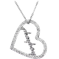 Licensed Clear Rhinestone Playboy Heart Necklace | Body Candy Body Jewelry