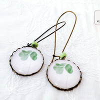 Clover vintage earrings Botanical earrings Clover by KandyDisenos