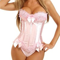 Green Trade Push Up Sexy Corset Lingerie with G-string