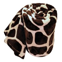 Royal Lux plush Giraffe queen soft blanket