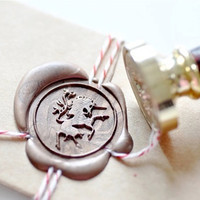Unicorn Mythical Creature Gold Plated Wax Seal Stamp x 1