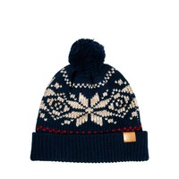 ASOS Fairisle Bobble Beanie in Wool Blend