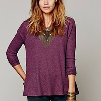 Free People Womens Rockabilly Raglan Solid -