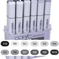 COPIC Sketch Marker Set of 12 Neutral Gray