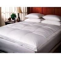 Twin Extra Long Down Top Featherbed high quality bed topper must have dorm bedding product for college dorm twin xl beds for guys or girls campus room