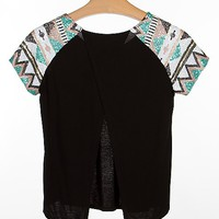 BKE Boutique Sequin Sleeve Top