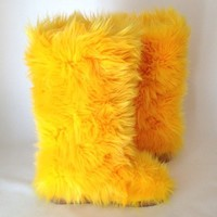 Yellow Frenzy – Fluffy Wuffies Classic Tall Boots
