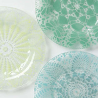 Frosted Doily Dessert Plate by Anthropologie