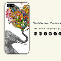 Elephant,Beautiful,Flower,iPhone 5 case, iPhone 5C Case, iPhone 5S , Phone case,iPhone 4 Case, iPhone 4S Case,Samsung Galaxy S3, S4