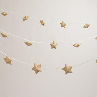 Burlap Star 10-Bulb String Lights