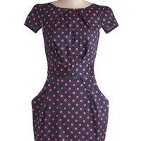 Tapioca Dokey Dress in Navy and Pink