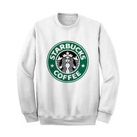 Starbucks Sweatshirt Crewneck Sweater for Men Women (Unisex) - Color White