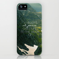Heart at Peace iPhone & iPod Case by Pocket Fuel