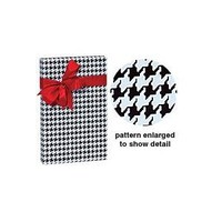 Black & White Houndstooth Gift Wrap Wrapping Paper