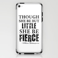 Little But Fierce iPhone & iPod Skin by LookHUMAN