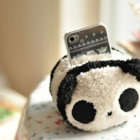Cute Lovely Plush Mobile Cell Phone iPhone iPod touch Desktop Office Holder (Panda)