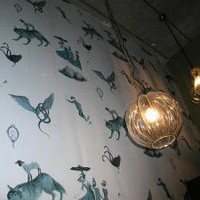 Moustache  Darling (wall coverings at Mustache Darling)