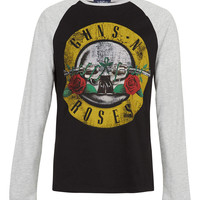 Black/Grey Guns N' Roses T-Shirt - TOPMAN USA