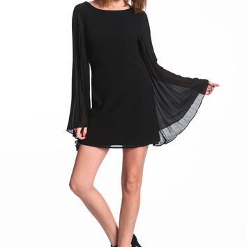 BELL SLEEVES CHIFFON DRESS