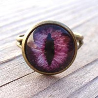Purple Evil Eye Ring by RandomOddities on Etsy
