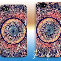 Mandala pattern---iphone 4 case iphone 4S case iphone 5 case iphone 5c case iphone 5s case Hard plastic iphone cover iphone case