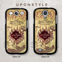 Samsung Galaxy S4 case, Galaxy S3 case, Marauders Map Harry Potter, Phone Cases, Phone Covers, Skins, Case for Samsung, Case No-166