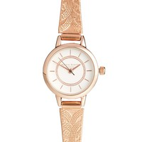 Rose Gold Color Crush Mesh Strap Watch