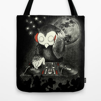 Owl the Night Tote Bag by Ivan Rodero