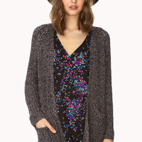 White Noise Open-Knit Cardigan