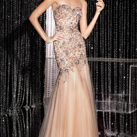 Strapless Fitted Gown by Alyce Black Label