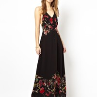 Jarlo Adora Button Through Maxi Dress in Floral Print