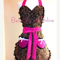 On Sale Leopard and Lace Apron