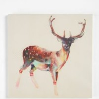 UrbanOutfitters.com > Deer Wearing Gym Socks by Charmaine Olivia Wall Art - 16x16