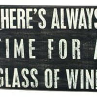 """Glass of Wine"" Sign"