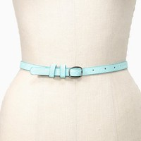 Pop Skinny Belt - Mint in What's New at Nasty Gal