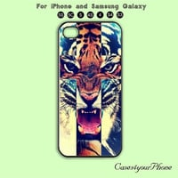 Tiger,iPhone 5 case, iPhone 5C Case, iPhone 5S , Phone case, iPhone 4S , Case,Samsung Galaxy S3, Samsung Galaxy S4
