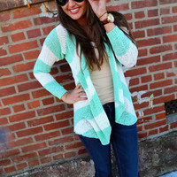 Mint + Ivory Everyday Cardi
