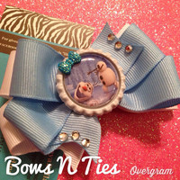 Ready to ship frozen Olaf inspired bow