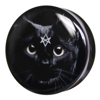 Black Cat - Plug | UK Custom Plugs Shop for gauges, alternative fashion & body jewellery