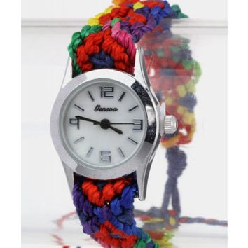 Braided Rainbow Watch