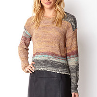 Textured Knit Pullover Sweater