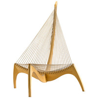 Danish Harp Chair by Jorgen Hovelskov Denmark c.1968