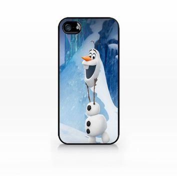 Olaf, Disney Frozen-iphone 5 case, iphone 5s case, Hard Plasic, Black case SCC-IP5-009 BLACK